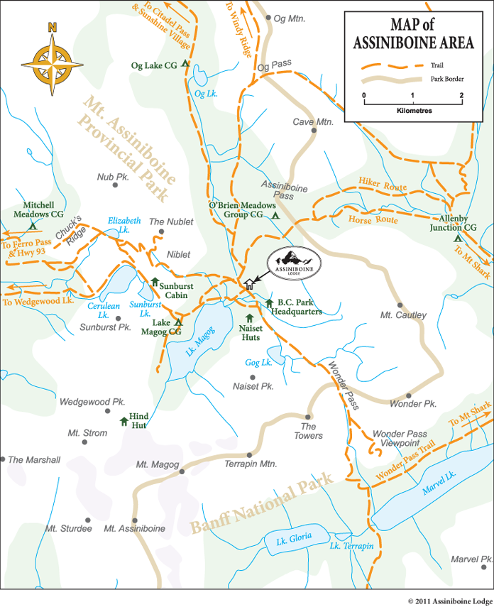 Assiniboine, Canada Map Guidebooks and Maps | Assiniboine Lodge